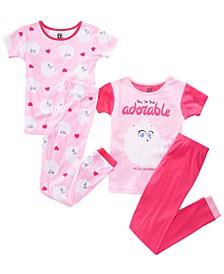 Little & Big Girls 4-Pc. Secret Life of Pets Graphic Cotton Pajamas
