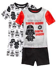 AME Little & Big Boys 2-Pack Star Wars Graphic Cotton Pajamas