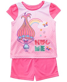 AME Toddler Girls 2-Pc. Trolls Graphic Cotton Pajamas