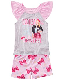 Little & Big Girls 2-Pc. Jojo Siwa Graphic Pajamas