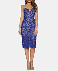 Bardot Sleeveless Lace Sheath Dress