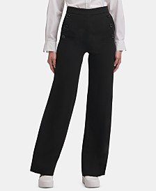 DKNY Crepe Wide-Leg Pants