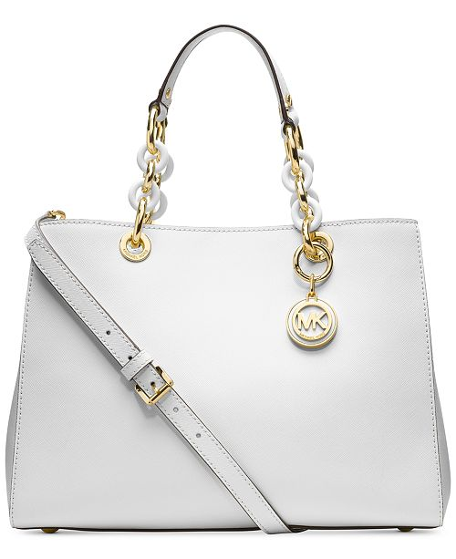 4ed48d98c Michael Kors Cynthia Saffiano Leather Satchel & Reviews - Handbags ...