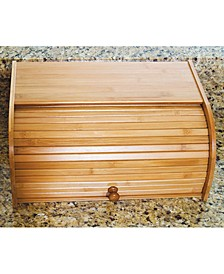 Acacia Roll-Top Bread Box