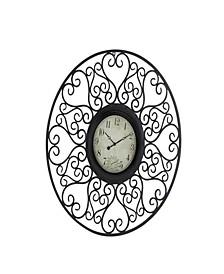 Rustic Metal Wall Clock