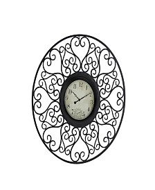 Rosemary Lane Rustic Metal Wall Clock