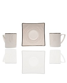 "Orbit 4.5"" Espresso Cup and Saucer Set"