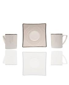 "Orbit 4.5"" Espresso Cup and Saucer Set"
