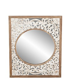 Contemporary Rectangular Wooden Framed Wall Mirror
