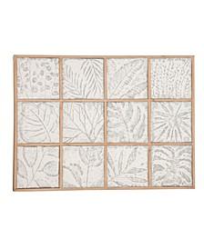Modern Square Leaf Metal Wall Art