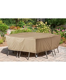 "Protective Vinyl Cover for Rectangular Dining Sets - 30.71"" x 124.02"" x 12"""