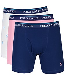 Polo Ralph Lauren Men's Classic Cotton Boxer Briefs, 3-Pk.