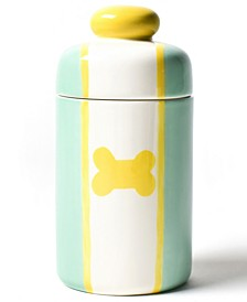 Mint Color Block Dog Bone Canister