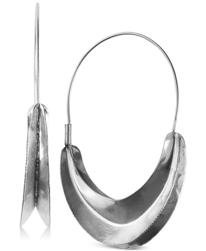 Lucky Brand - Gold-Tone Organic Hoop Earrings