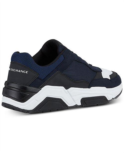 8ff9af84bd815 Armani Exchange Armani Jeans Men's Dad Sneakers & Reviews - All ...