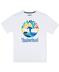 Timberland Big Boys Newbury Logo T-Shirt