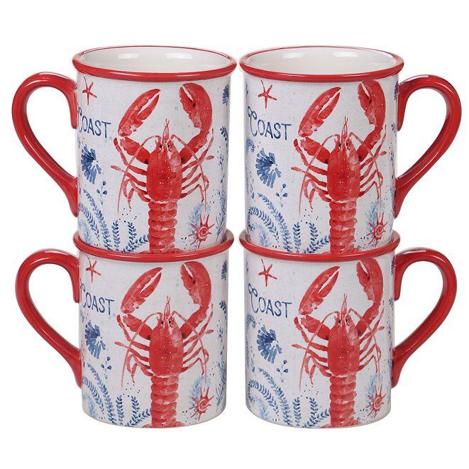 Certified International Nautical 4pc Mug Set