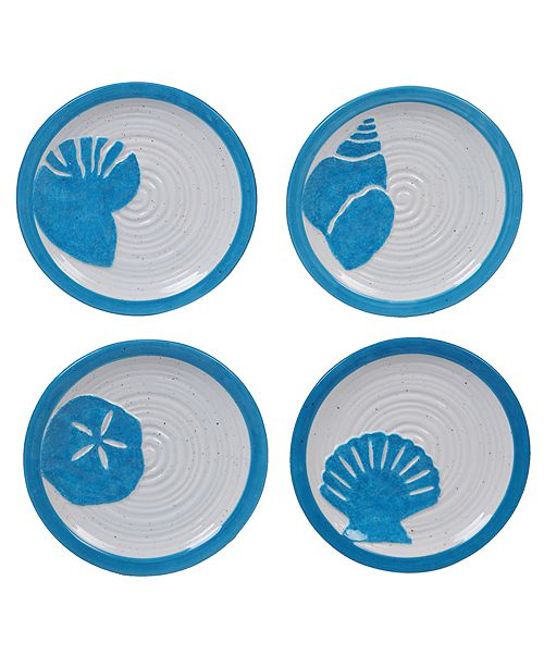 Certified International Natural Canape Plates, Set of 4
