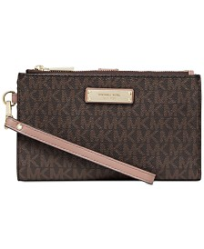 MICHAEL Michael Kors Signature Adele Double Zip iPhone 7 Plus Wristlet