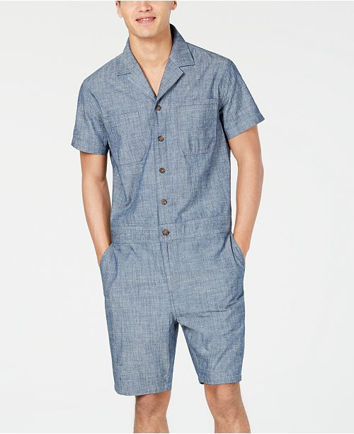 Club Room Men's Utility Worksuit, Created for Macy's