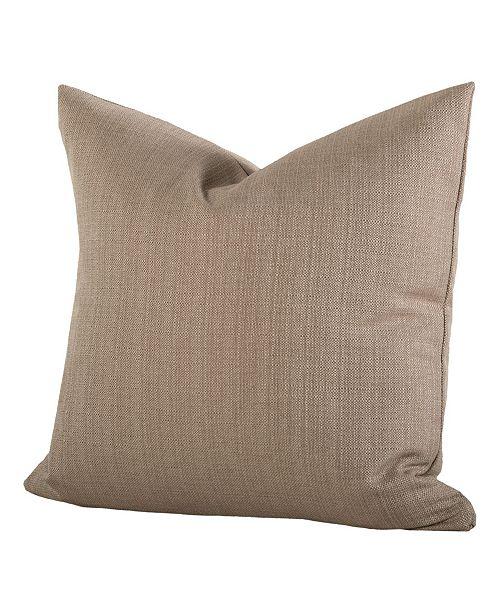 "Siscovers Linen Flax 26"" Designer Euro Throw Pillow"