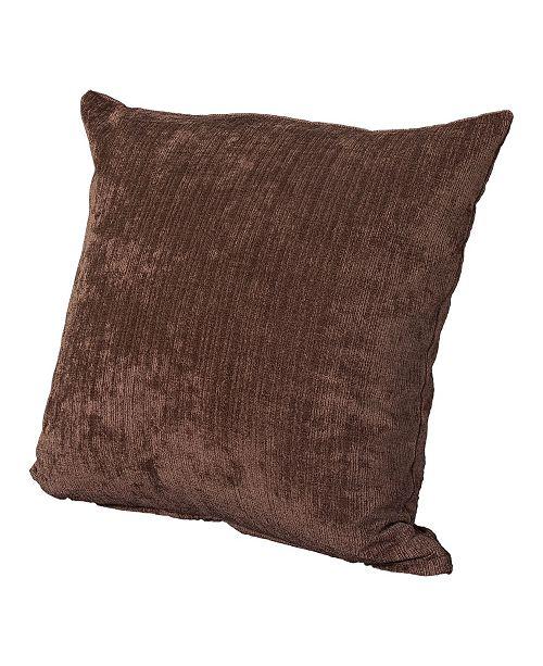 "Siscovers Vintage Cognac 20"" Designer Throw Pillow"