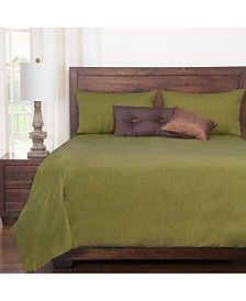Siscovers Harbour Willow Green 6 Piece Cal King Duvet Set