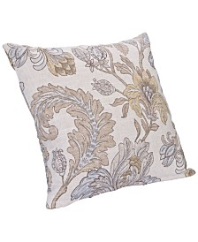 """Siscovers Isabella Floral 20"""" Designer Throw Pillow"""