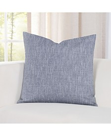 "Siscovers Pacific Denim Linen 20"" Designer Throw Pillow"