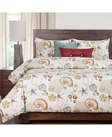Siscovers Naples Coral 6 Piece Cal King High End Duvet Set