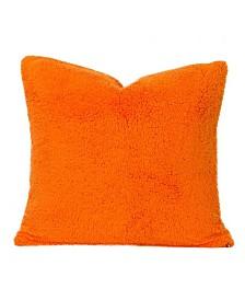 "Crayola Playful Plush Outrageous Orange 16"" Designer Throw Pillow"