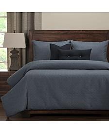 Saddleback Blue 6 Piece Full Size Luxury Duvet Set