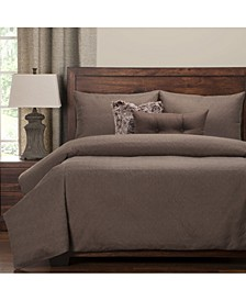 Saddleback Brown 6 Piece Full Size Luxury Duvet Set