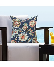 "Siscovers Indoor-Outdoor Magnolia Floral 16"" Designer Throw Pillow"