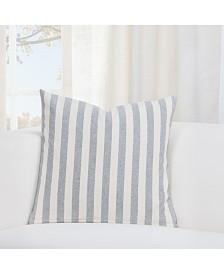"""Siscovers Farmhouse Pewter Striped 16"""" Designer Throw Pillow"""