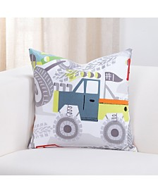 "Crayola Four Wheelin' Monster truck 20"" Designer Throw Pillow"