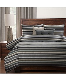 Everlast Bronson Stain Resistant 6 Piece Queen Luxury Duvet Set