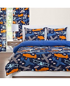 Take Flight 5 Piece Twin Luxury Duvet Set