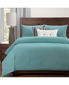 Everlast Turquoise Stain Resistant 6 Piece Queen Luxury Duvet Set