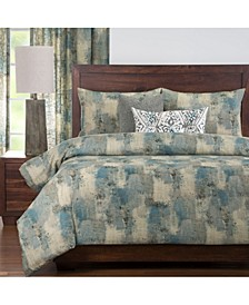 Calcutta Teal 6 Piece Queen Luxury Duvet Set
