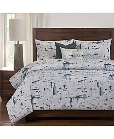 Lapis 6 Piece Full Size Luxury Duvet Set