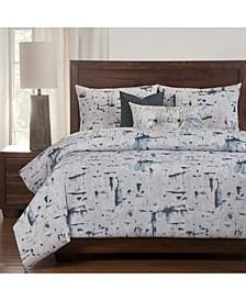 Lapis 6 Piece Full Size Luxury Duvet Set