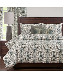 Malta Teal 6 Piece Full Size Luxury Duvet Set