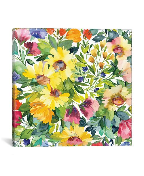 """iCanvas """"Lydia'S Garden"""" By Kim Parker Gallery-Wrapped Canvas Print - 26"""" x 26"""" x 0.75"""""""