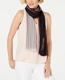Calvin Klein Ombré Stripe Chiffon Scarf