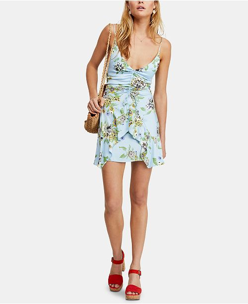 34a04deb2197 Free People Happy Heart Ruched Mini Dress & Reviews - Dresses ...