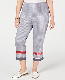 Plus Size Chelsea Pull-On Capri Pants, Created for Macy's