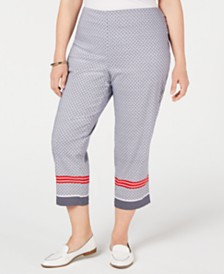Charter Club Plus Size Chelsea Pull-On Capri Pants, Created for Macy's