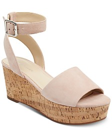 Marc Fisher Rillia Cork Flatform Sandals