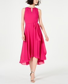 Jessica Howard Petite Belted Keyhole Midi Dress